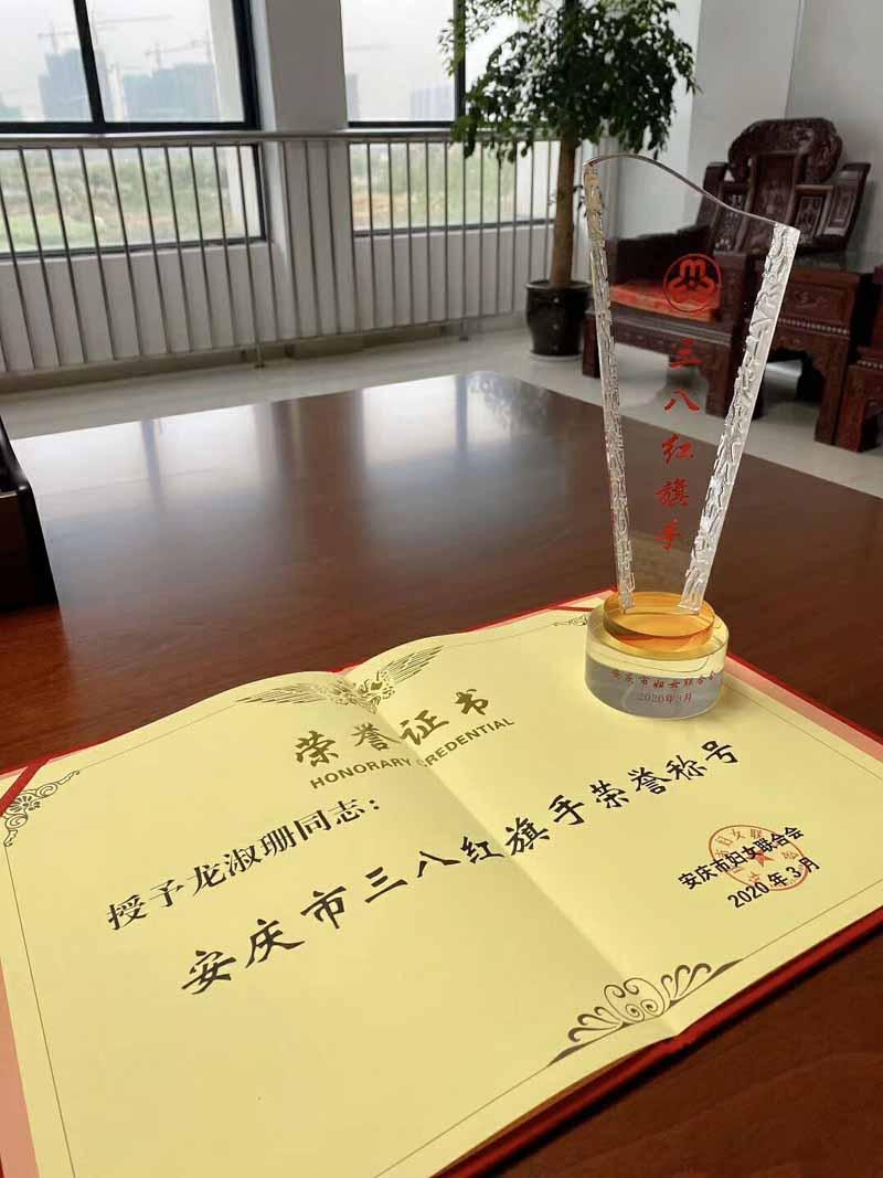 喜报!康明纳总经理龙淑珊获得三八红旗手荣誉称号!
